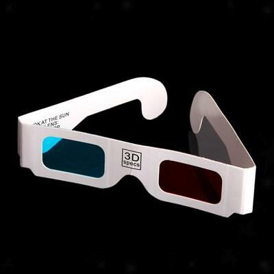100x Red-Cyan(Blue) Anaglyph 3D Glasses for 3D Movie TV Home Theater