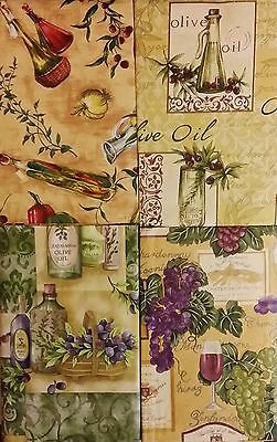 Tuscan Themed Vinyl Flannel Back Tablecloths by Elrene (Various Sizes)