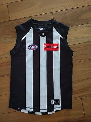 AFL Collingwood Magpies Football Jumper Guernsey Jersey Kids Size 12