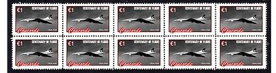 The Concorde Flight Centenary Strip Of10 Mint Stamps #5