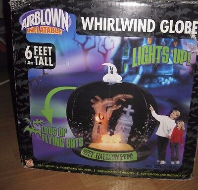 2006 Gemmy Halloween 6 Ft Whirlwind Globe Light Up Airblown Inflatable SEE VIDEO