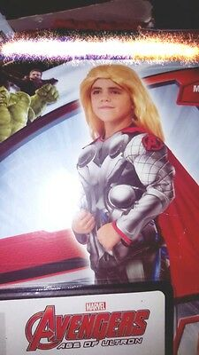 HALLOWEEN COSTUME Complete Thor Marvel Avengers Boy L 10-12+ID Card&Wallet&Badge