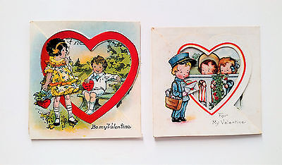 Vintage Cut-Out Valentine's Day Cards