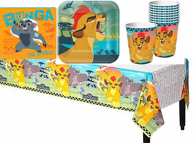 The Lion guard Birthday Party Pack of 33pc~Table Cover Plates Cups and Napkins
