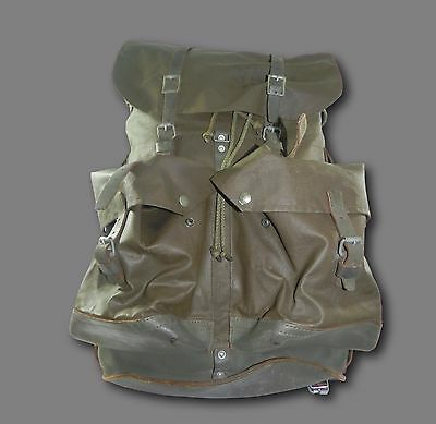 Vintage Swiss Army Military A. Rychener Beinwil a/S Rubberized Rucksack Pack