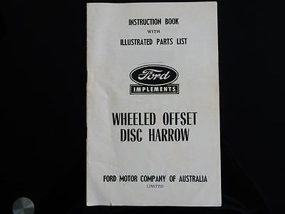 Ford Wheeled Offset Disc Harrow Instruction Book