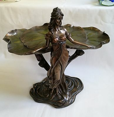 Collectable Veronese Bronze Figurine Art lotus fairy for home decoration