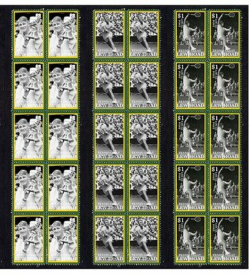 Lew Hoad Tennis Great Set Of Mint Stamp Strips 1
