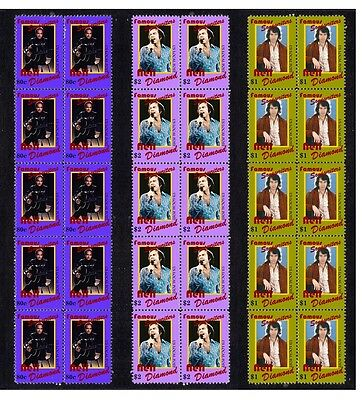 Neil Diamond Songwriters Set Of 3 Mint Stamp Strips