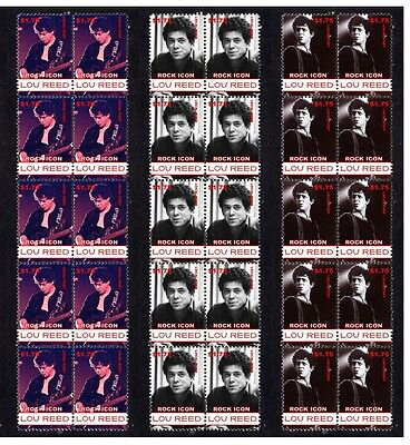 Lou Reed, The Velvet Underground Set Of 3 Mint Stamps 2