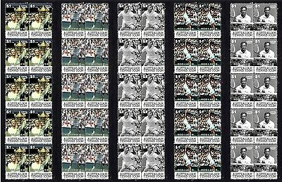 Rod Laver Tennis Icon Set Of 5 Mint Stamp Strips