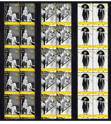 Jean Harlow Hollywood Icon Set Of 3 Mint Stamp Strips 1