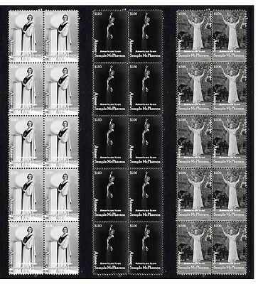 Aimee Semple Mcpherson Set Of 3 Mint Stamp Strips 2