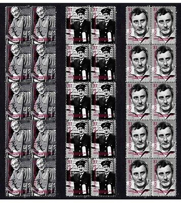 Spike Milligan Comic Icon Set Of 3 Mint Stamp Strips 2