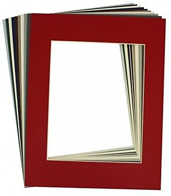 Mat Board Center, High Quality Crescent Pack Of 10 11x14 MIXED COLORS Cream For