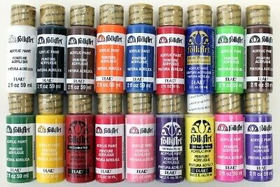 FolkArt Acrylic Paint In Assorted Colors (2-Ounce), PROMOFAI Best Selling I
