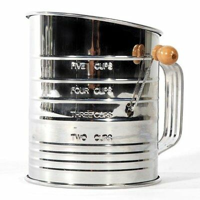 Jacob Bromwell All-American 5-Cup, 4-Wire Crank Sifter Stainless