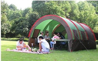 8-10 Persons Family Outdoor Waterproof Sunscreen Beach Camping Hiking Tent #