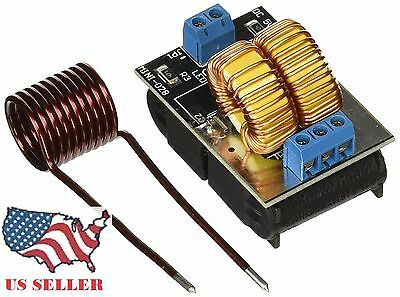 QQ  Low Voltage ZVS Induction Heating Board Module 120W 5V-12V Power Supply Coil