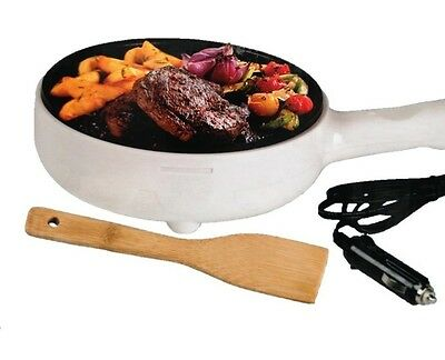 Portable Fry Pan 100W Dc 12V/24V All Ride Bakpan With 2M Wire Portable Frypan