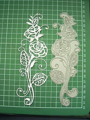 Perfect for Valentines Day MAJESTIC ROSE DIE D643 - Tattered Lace 18cm x 6.5cm