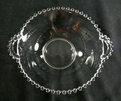 Vintage 1936-1956 Imperial Candlewick 8.75 Inch Double Handled Serving Bowl VG