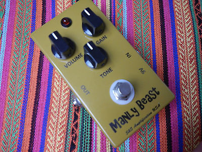 MANLY BEAST KLON Klone Overdrive Boost by S&S AMPLIFICATIONS - Sprague Caps