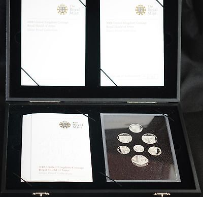 2008 UK ROYAL SHIELD OF ARMS SILVER PROOF COIN SET 2008 (No 1896)