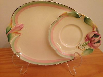 Royal Winton Vintage China Honey / Tiger Lily Snack Plate Saucer