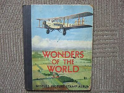"""""""Nestle's Wonders of the World Picture Stamp Album"""" 1930's COMPLETE"""