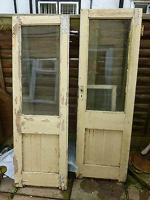A Pair of Victorian, hardwood single Glazed  Double/French Doors + Window