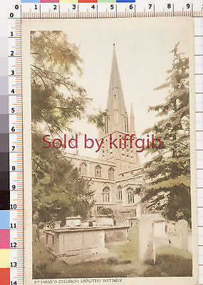 St Mary's Church Witney vintage postcard