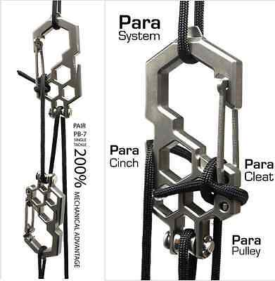2x Edc Pulley Multitool Carabiners Stainless steel For Bushcraft & Survival UK