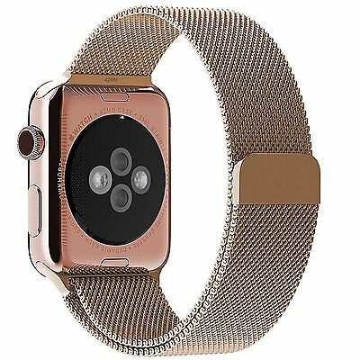 Apple Watch Band Magnet Lock JETech 42mm Milanese Loop Stainless Steel Gold