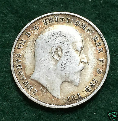 EDWARD VII - Threepence - 1906. Collectable Coin.
