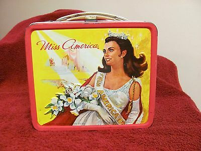 1972 Miss America Pageant Tin Metal Lunchbox Aladdin  / No Thermos