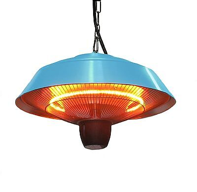 EnerG+ 1500W Hanging Blue Electric Infrared Outdoor Gazebo Patio Heater