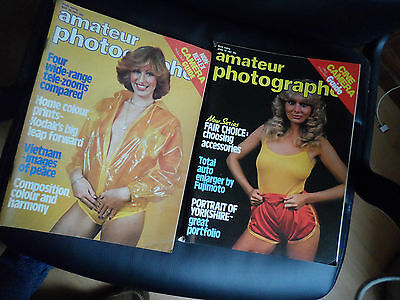 AMATEUR PHOTOGRAPHER MAGAZINES 2 VINTAGE Apr 18 may 1981 GLAMOUR G8 CONDITION