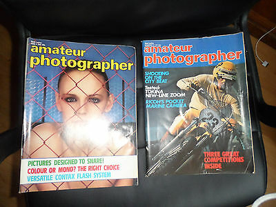 AMATEUR PHOTOGRAPHER MAGAZINES 2 VINTAGE 12/12 and 06 1981 GLAMOUR G8 CONDITION