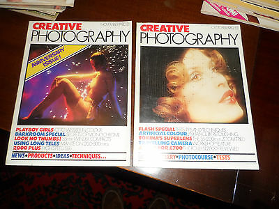 CREATIVE PHOTOGRAPHY MAGAZINES VINTAGE set 1982 GLAMOUR SET GREAT CONDITION 2