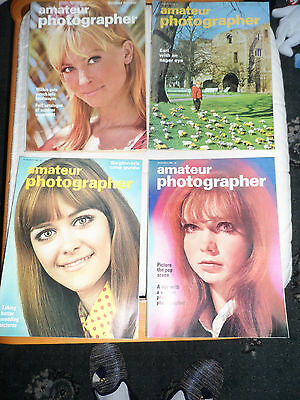 4 VINTAGE AMATEUR PHOTOGRAPHER MAGAZINE 1968 set of four weeks FOR MARCH 1968