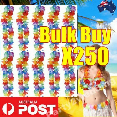 25 Pcs Hawaiian Party Flower Lei Leis For Hula Costume Dress 105cm