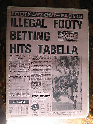 Sporting Globe MAY 14 1`977 Illegal Footy Betting North Melbourne