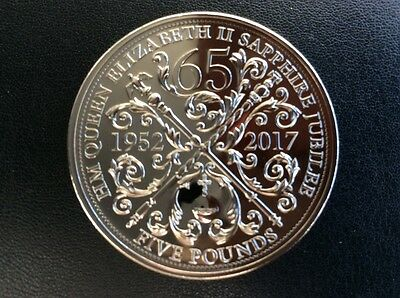 2017 Queens Sapphire Jubilee £5 Five Pound Coin Brilliant Uncirclated