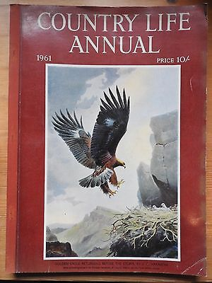 Country Life Annual 1961  - JC Harrison eagle cover - Tunnicliffe frontispiece