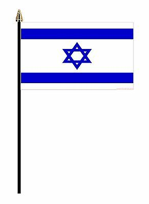 "ISRAEL MIDDLE EAST PACK OF 12 SMALL HAND FLAGS flag 6""x4"" with 10"" pole"