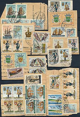 Mocambique , Nice Vintage Lot Of Different Fragments, See... #a2229
