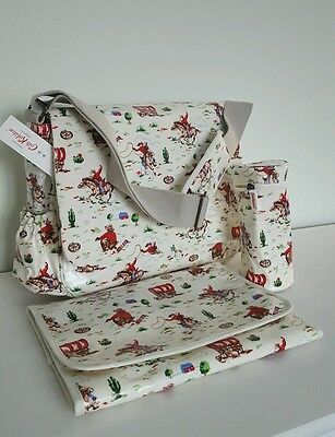 CATH KIDSTON Cowboy Baby Nappy Changing Bag  Brand New