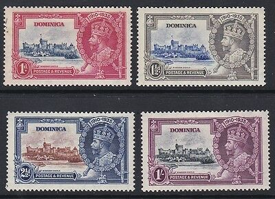 Dominica GV 1935 Silver Jubilee complete mint set sg92-95