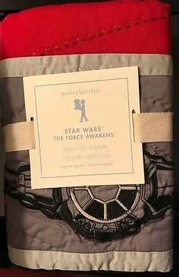 Pottery Barn Kids STAR WARS FORCE AWAKENS Quilted Pillow Sham EURO NWT